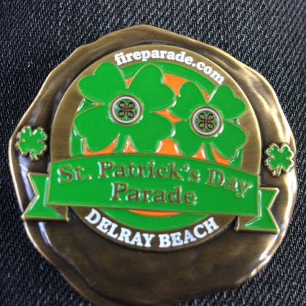 Redemption Halfway House Delray Beach: St. Patrick's Day Parade Challenge Coin